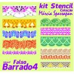 Kit Stencil Coleção Márcia Spassapan | Falso Barrado 4 - Edição 17