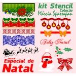 Kit Stencil Coleção Márcia Spassapan | Natal - Edição 18