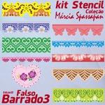 Kit Stencil Coleção Márcia Spassapan | Falso Barrado 3 - Edição 13