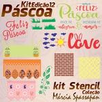 Kit Stencil Coleção Márcia Spassapan | Páscoa - Edição 12 + 3 Aulas + Risco A3