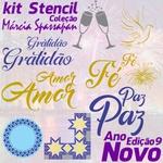 Kit Stencil Coleção Márcia Spassapan Edição 9 - Ano Novo