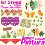 Kit Stencil Coleção Márcia Spassapan   Semana Da Pintura - Edição 8