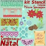 Combo Stencil + Aulas | Coleção Márcia Spassapan | Natal - Edição 7