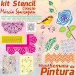 Kit Stencil Coleção Márcia Spassapan | Semana Da Pintura - Edição 3