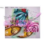 Projeto para Pintura com Foto e Risco Natal Proj. N22 - Rosa com Sinos