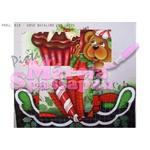 Projeto para Pintura com Foto e Risco Natal Proj. N18 - Urso Natalino com Laços