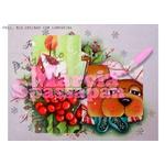 Projeto para Pintura com Foto e Risco Natal Proj. N16 - Ursinho com Lamparina