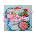 Projeto para Pintura com Foto e Risco Natal Proj. N15 - Papai Noel com Bolas de Natal