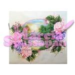 Projeto para Pintura com Foto e Risco Paisagem com Rosas Ed.7