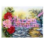 Projeto para Pintura com Foto e Risco Paisagem com Rosas Ed.6