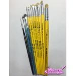 Kit de Pincéis TIGRE Para Pintura em Tecido Completo (Com 10 Pincéis)