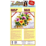 Kit Pano de Copa Márcia Spassapan Floral Mod. 25
