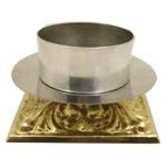 Castiçal Bronze 09 centímetros de altura para vela 9 centímetros
