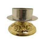 Castiçal de Bronze 10 centímetros de altura para vela 9 centímetros