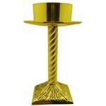Castiçal de Bronze 25 cm de Altura e 9 cm para Vela