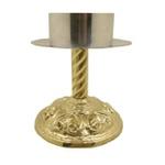 Castiçal de Bronze 18 centímetros de altura e 9 centímetros para vela