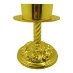 Castiçal de Bronze18 centímetros de altura e 9 centímetros para Vela