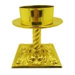 Castiçal de Bronze 17 centímetros dealtura para vela 9 centímetros