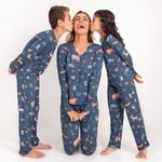 23194 - Pijama de inverno em malha. - Estampado