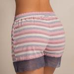 22663 - Pijama de verão curto em malha. - Listrado