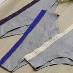 22168 - Kit com três calcinhas clássicas. - Cinza