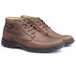 Sapato Boot Masculino Full Relax Francajel Cafe em Couro
