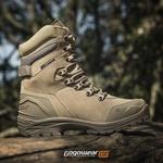 Bota Tática Militar Masculina Gogowear 100% Couro ref Bope cor Areia