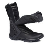Bota Tática Militar Cano Alto Gogowear 100% Couro ref Custom cor Preta