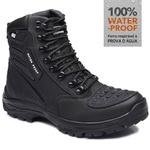 Bota Tático Militar 100% Impermeável Gogowear 100% Couro ref Roadstar cor Preto