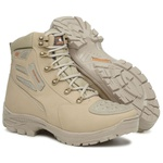 Bota Tático Militar 100% Impermeável Gogowear 100% Couro ref Roadstar cor Areia