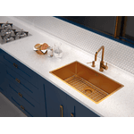 Cuba Tramontina Design Collection Quadrum em Aço Inox com Revestimento PVD Gold 70x40 cm