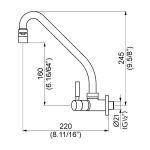 Torneira Perflex 1168 C36 Slim 10726910