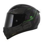 CAPACETE LS2 ARROW TECHNO BLACK/GREY/GREEN