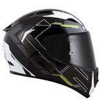 CAPACETE LS2 ARROW TECHNO BLACK/GREY/FLUO YLW