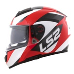 CAPACETE LS2 VECTOR WAVY BLACK/WHITE/RED