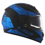 CAPACETE LS2 VECTOR SIGN MATTE BLACK/BLUE