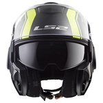 CAPACETE LS2 VALIANT LINE MATTE BLACK/HV YELLOW