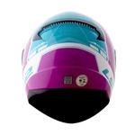 CAPACETE LS2 RAPID CANDIE WHT/PINK FLUO/LIGHT/BLUE