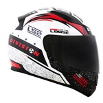 CAPACETE LS2 RAPID THUNDER WHITE/BLACK/RED