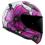CAPACETE LS2 RAPID POPPIES WHITE/PINK