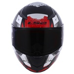 CAPACETE LS2 RAPID GROW BLK/SILVER/RED