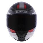 CAPACETE LS2 RAPID SLIDE BLK/SILVER/RED