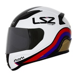 CAPACETE LS2 RAPID STARK WHITE/RED/BLUE/GOLD