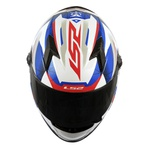 CAPACETE LS2 CLASSIC DRAZE WHITE/BLUE/RED