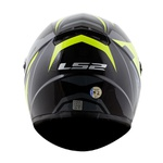 CAPACETE LS2 CLASSIC TOURING BLACK/GREY/FLUO YELLOW