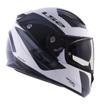 CAPACETE LS2 STREAM DIMITRY WHITE/GREY/BLACK