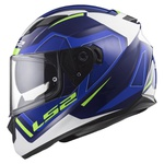 CAPACETE LS2 STREAM EDGE BLUE/WHITE