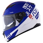 CAPACETE LS2 STREAM SUKEBAN WHITE/BLUE/RED