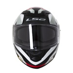 CAPACETE LS2 STREAM CROWN WHITE/RED
