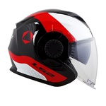 CAPACETE LS2 VERSO TECHNIK WHITE/BLACK/RED